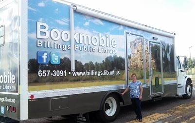 Bookmobile & Librarian Patti