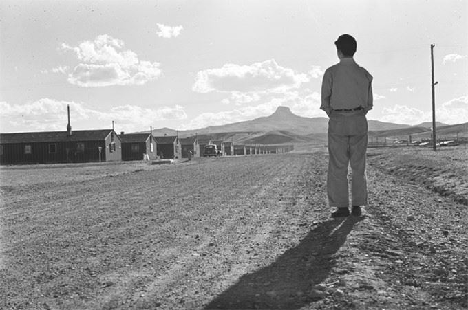 Kunio Yamamoto facing Heart Mountain, 1944, Frank and George Hirahara Photographs Collection, Washin
